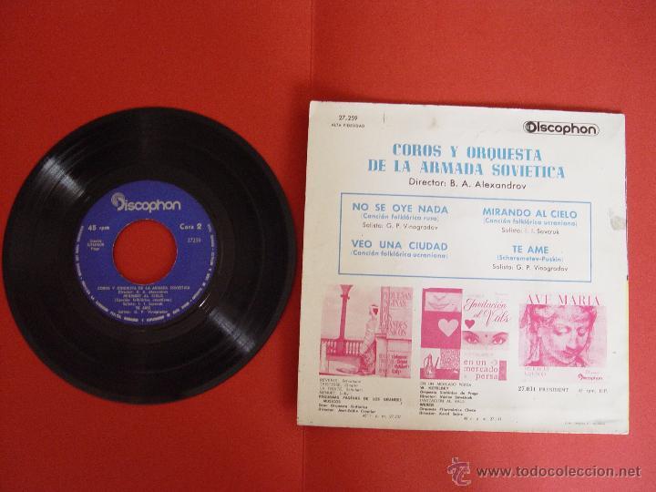 Discos de vinilo: Vinilo EP: Coros y orquesta de la Armada Soviética (Discophon, 1963) ¡ORIGINAL! ¡Coleccionista! - Foto 2 - 50956362