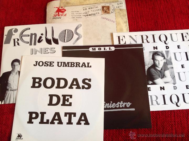 4 SINGLES NUEVOS A ESTRENAR PROMOCIONALES ENRIQUE+JOSE UMBRAL+MOLL+FRENILLOS (Música - Discos - Singles Vinilo - Grupos Españoles de los 90 a la actualidad)