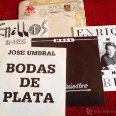 Discos de vinilo: 4 SINGLES NUEVOS A ESTRENAR PROMOCIONALES ENRIQUE+JOSE UMBRAL+MOLL+FRENILLOS. Lote 50958440