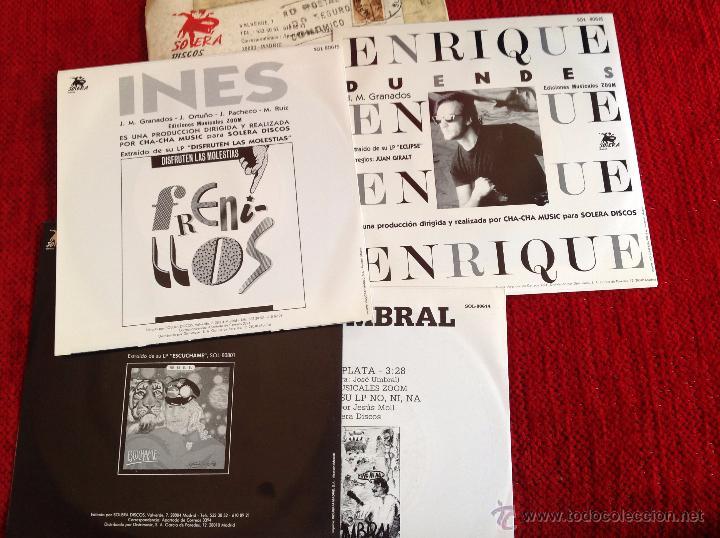 Discos de vinilo: 4 SINGLES nuevos a estrenar PROMOCIONALES ENRIQUE+JOSE UMBRAL+MOLL+FRENILLOS - Foto 2 - 50958440