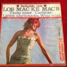 Discos de vinilo: LOS MAC KE MAC´S EP TANTO AMOR. Lote 50959547