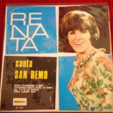 Discos de vinilo: RENATA EP CANTA SAN REMO NUEVO. Lote 50959931