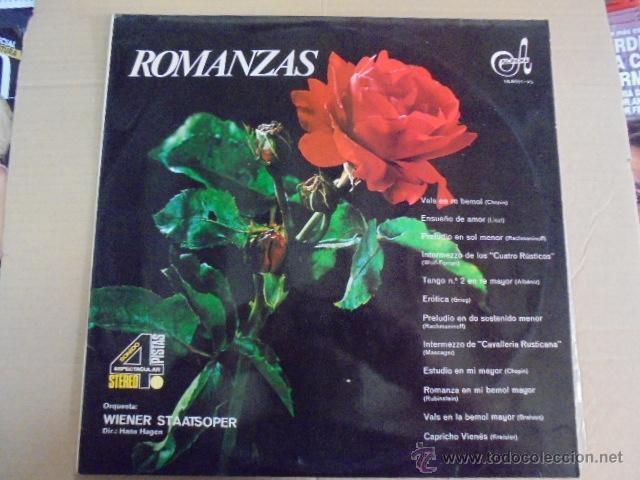 ROMANZAS - HAGEN / ORQUESTA VIENA - CHOPIN LISZT ALBENIZ GRIEG MASCAGNI RUBINSTEIN BRAHMS (Música - Discos - LP Vinilo - Clásica, Ópera, Zarzuela y Marchas)