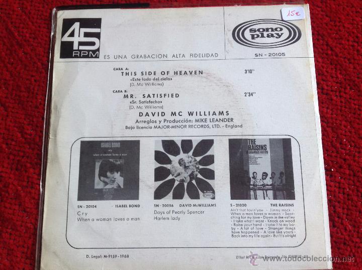 Discos de vinilo: DAVID Mc WILLIAMS Sg. This side of heaven - Foto 2 - 50971249