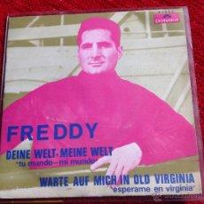 Discos de vinilo: FREDDY SG. DEINE WELT-MEINE WELT. Lote 50971633