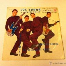 Discos de vinilo: LOS SONOR Y SU SUPER-TWIST.EL RELICARIO.EP.ESPAÑA 1962.RCA VICTOR.. Lote 50971678