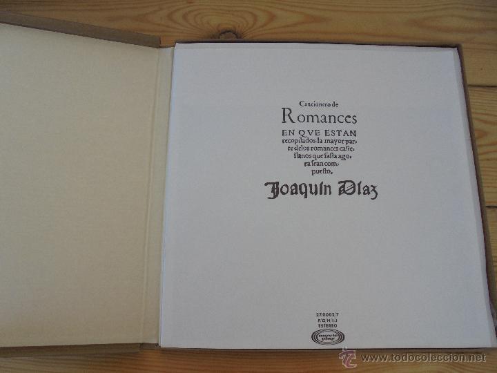 Discos de vinilo: CANCIONERO DE ROMANCES EN QUE ESTAN RECOPILADOS LA MAYOR PARTE DE ROMANCES CASTELLANOS.J.D. - Foto 5 - 50971711
