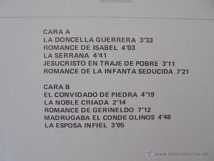 Discos de vinilo: CANCIONERO DE ROMANCES EN QUE ESTAN RECOPILADOS LA MAYOR PARTE DE ROMANCES CASTELLANOS.J.D. - Foto 11 - 50971711