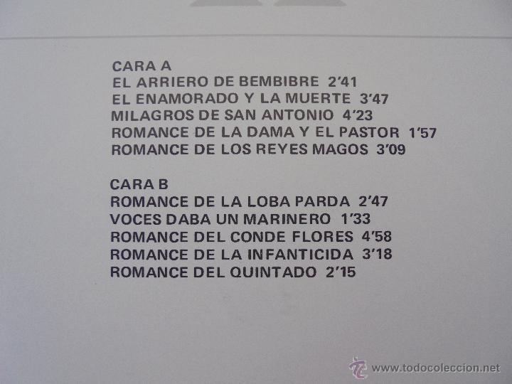 Discos de vinilo: CANCIONERO DE ROMANCES EN QUE ESTAN RECOPILADOS LA MAYOR PARTE DE ROMANCES CASTELLANOS.J.D. - Foto 13 - 50971711