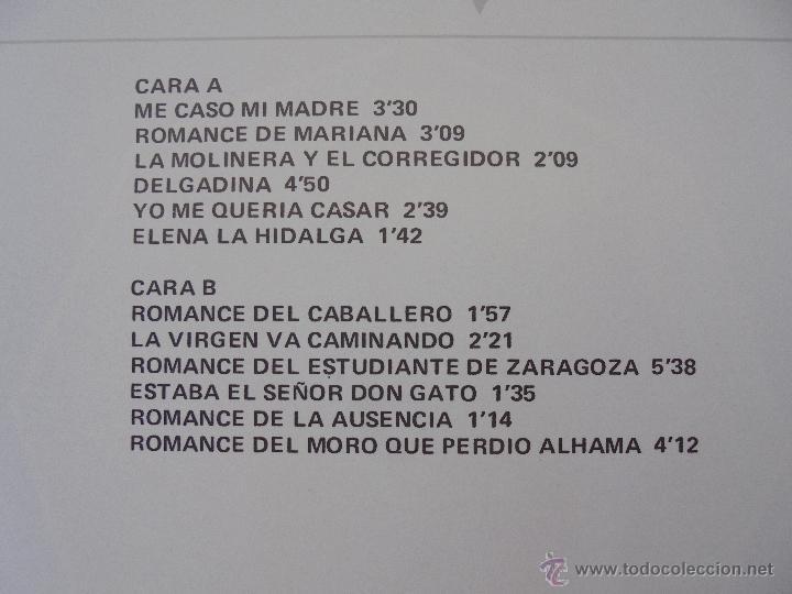 Discos de vinilo: CANCIONERO DE ROMANCES EN QUE ESTAN RECOPILADOS LA MAYOR PARTE DE ROMANCES CASTELLANOS.J.D. - Foto 17 - 50971711