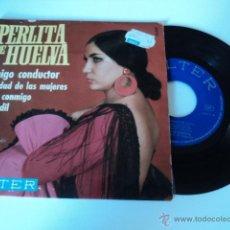 Discos de vinilo: DISCO SINGLE PERLITA DE HUELVA. Lote 50973616