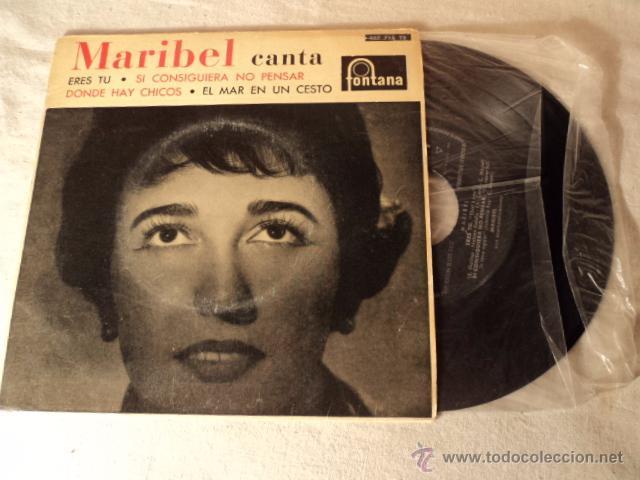 DISCO SINGLE MARIBEL - DONDE HAY CHICOS - EP RARO DE VINILO (Música - Discos de Vinilo - EPs - Solistas Españoles de los 50 y 60)