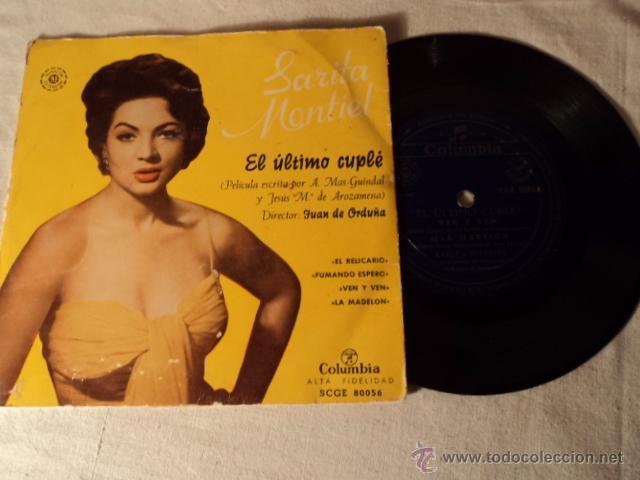 SARA MONTIEL - EL ULTIMO CUPLE EP- ORIGINAL ESPAÑOL - COLUMBIA RECORDS 1957 - MONOAURAL (Música - Discos de Vinilo - EPs - Solistas Españoles de los 50 y 60)