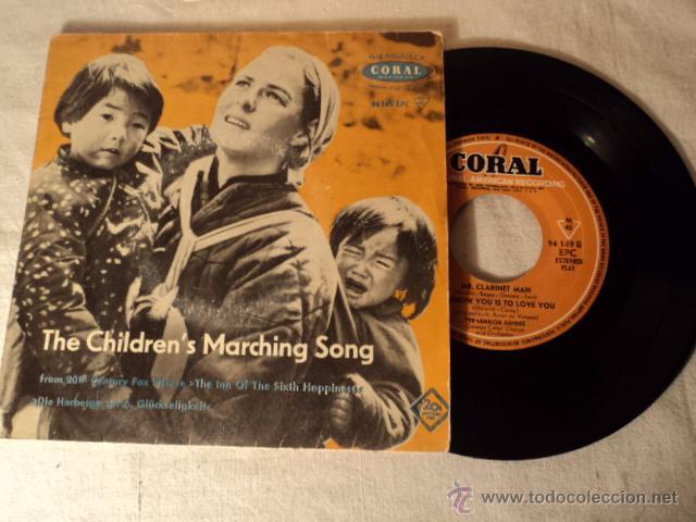 DISCO SINGLE EP MUY RARO 1958 THE CHILDREN'S MARCHING SONG INGRID BERGMAN, CORAL 94149 EPC (Música - Discos de Vinilo - EPs - Bandas Sonoras y Actores)