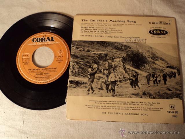 Discos de vinilo: DISCO SINGLE EP MUY RARO 1958 THE CHILDRENS MARCHING SONG INGRID BERGMAN, CORAL 94149 EPC - Foto 2 - 50978104