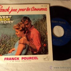 Discos de vinilo: SINGLE WEST SIDE STORY FRANCK POURCEL Y SU GRAN ORQUESTA MARIA I FEEL PRETTY BRUNETTES ZHIVAGO JUMBO. Lote 50978428