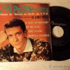 Discos de vinilo: SINGLE JUAN PEDRO SOMOZA & LOS DIABLOS NEGROS -EP- EL BAILE DEL MATTONE + 3 - RARE SPAIN ED. Lote 50978466