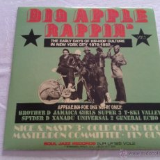 Discos de vinilo: 2LP BIG APPLE RAPPIN' VOL.2 - EARLY DAYS OF HIP HOP / SOUL JAZZ RECORDS / VERY RARE / SJR LP 125. Lote 50979870