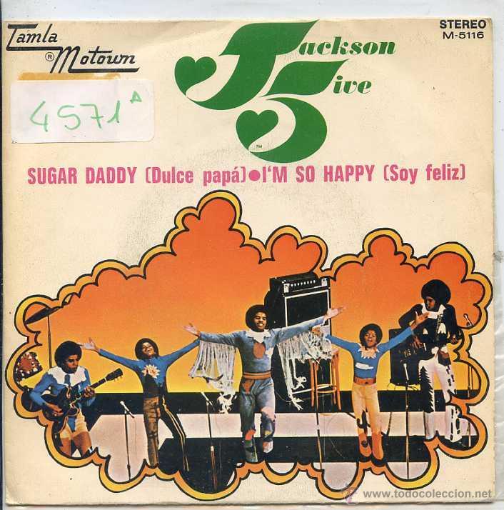 JACKSON 5 / DULCE PAPA / SOY FELIZ (SINGLE PROMO 1972) (Música - Discos - Singles Vinilo - Funk, Soul y Black Music)