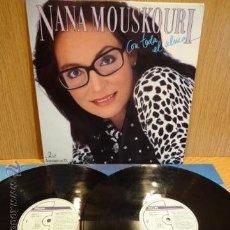 Discos de vinilo: NANA MOUSKOURI. CON TODA EL ALMA. DOBLE LP / PHILIPS - 1986. BUENA CALIDAD. ***/***. Lote 50985670