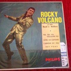 Discos de vinilo: ROCKY VOLCANO EP TOI, TOI, TOI, TOUJOURS TOI + 3 TEMAS. Lote 117677922