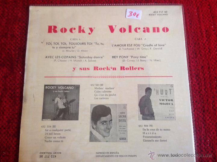 Discos de vinilo: ROCKY VOLCANO Ep Toi, toi, toi, toujours toi + 3 temas - Foto 2 - 117677922