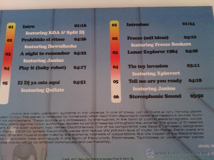 Discos de vinilo: LP SACE 2 - ADVENTURES IN SOUND... / 2009 orig. press / ELECTRO OLD SCHOOL RAP HIP HOP ESPAÑOL !!!!! - Foto 4 - 261789995