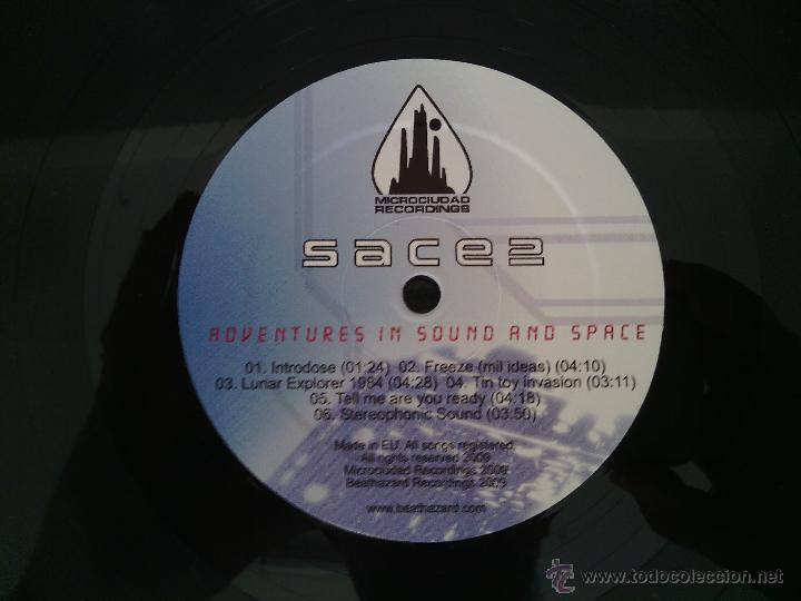 Discos de vinilo: LP SACE 2 - ADVENTURES IN SOUND... / 2009 orig. press / ELECTRO OLD SCHOOL RAP HIP HOP ESPAÑOL !!!!! - Foto 6 - 261789995