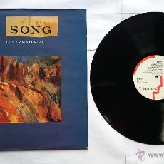 Discos de vinilo: IT'S IMMATERIAL - SONG (EDICION UK 1990). Lote 51001124