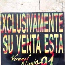Discos de vinilo: LP - VERANO VIRGIN 91 - DISCO PROMOCIONAL - DOBLE LP - VIRGIN 1991.. Lote 51001495