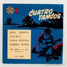 Discos de vinilo: 4 TANGOS - BELA SANDERS Y SU GRAN ORQUESTA - 1958. Lote 51016175
