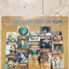 Discos de vinilo: LP EL DISCO DE ORO DE EPIC VOL. 1 - UMBERTO TOZZI - KANSAS - SUPERTRAMP - PECOS - EPIC 1978.. Lote 51029564
