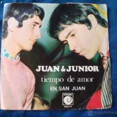 Discos de vinilo: JUAN Y JUNIOR TIEMPO DE AMOR EN SAN JUAN SELLO NOVOLA 1968. Lote 51032410