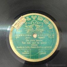Discos de vinilo: DISCO DE PIZARRA AURELIO DE CADIZ. Lote 51044037