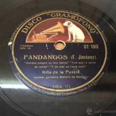 Discos de vinilo: NIÑA DE LA PUEBLA, ALBORADA DE VILLANCICOS Y FANDANGOS. PIZARRA. Lote 51048308