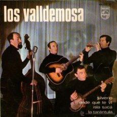 Discos de vinilo: LOS VALLDEMOSA - EP SINGLE VINILO 7'' - EDITADO EN ESPAÑA - SILVERIO + 3 - PHILIPS 1966. Lote 51049136
