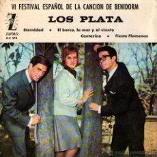 "Discos de vinilo: LOS PLATA - EP SINGLE VINILO 7"" - EDITADO EN ESPAÑA - ETERNIDAD + 3 - ZAFIRO 1964. Lote 51050190"