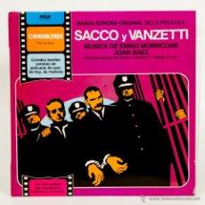Discos de vinilo: BSO SACCO Y VANZETTI (ENNIO MORRICONE + JOAN BAEZ). Lote 51053118