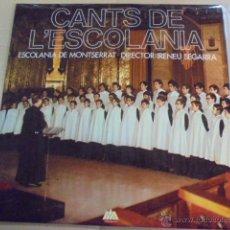 Discos de vinilo: CANTS DE L´ESCOLANIA DE MONTSERRAT - COROS - IRENEU SEGARRA - DISCOS VICTORIA / ENVIO GRATIS. Lote 51053292