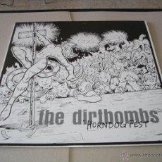 Discos de vinilo: THE DIRTBOMBS LP HORNDOG FEST IN THE RED RECORDINGS ORIGINAL USA 1998 + FUNDA INTERIOR. Lote 51061411