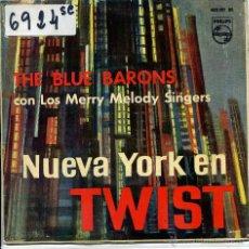 Discos de vinilo: THE BLUE BARONS / LA LARGIRUCHA SALLY / CORINNE CORINNA / JIM DANDY + 1 (EP 1962) VINILO AMARILLO. Lote 51062877