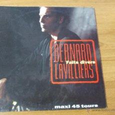 Discos de vinilo: BERNARD LAVILLIERS. FAITS DIVERS. MAXI 12 . Lote 51064352