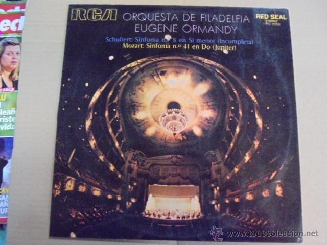 EUGENE ORMANDY / ORQUESTA FILADELFIA - RCA - MOZART JUPITER - SCHUBERT INCOMPLETA SINFONIA - 1971 (Música - Discos - LP Vinilo - Clásica, Ópera, Zarzuela y Marchas)