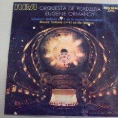 Discos de vinilo: EUGENE ORMANDY / ORQUESTA FILADELFIA - RCA - MOZART JUPITER - SCHUBERT INCOMPLETA SINFONIA - 1971. Lote 131823989