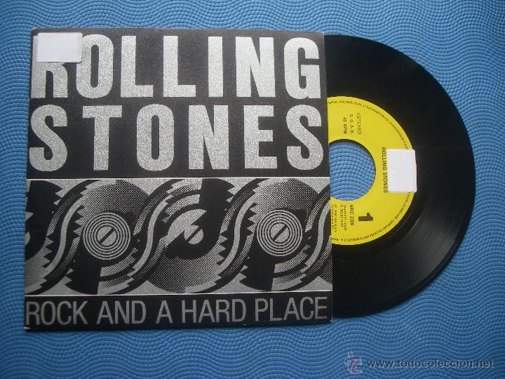 THE ROLLING STONES ROCK AND HARD PLACE SINGLE SPAIN 1989 PDELUXE (Música - Discos de Vinilo - Singles - Pop - Rock Extranjero de los 80)