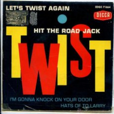 Discos de vinilo: CLINT WEBSTER / HIT THE ROAD JACK / LET'S TWIST AGAIN / HATS OF TO LARRY + 1 (EP 1962). Lote 51077019