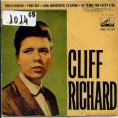 Discos de vinilo: CLIFF RICHRAD / TOUCH ENOUGH / POOR BOY + 2 (EP 1962). Lote 51077074