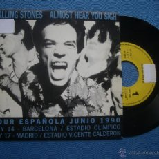 Discos de vinilo: ROLLING STONES - ALMOST HEAR YOU SIGH SINGLE SPAIN 1990 PDELUXE. Lote 51080349