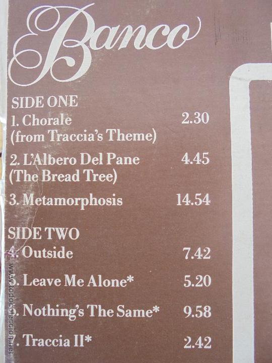 Discos de vinilo: BANCO. MANTICORE 1975. VER FOTOGRAFIAS ADJUNTAS. - Foto 5 - 51083256
