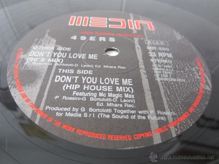 Discos de vinilo: 49ERS (49 ERS) - DONT YOU LOVE ME (2 VERSIONES) 1990 ITALY MAXI SINGLE - Foto 4 - 51088180